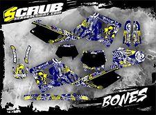 SCRUB Husqvarna graphics decals kit WR 125 - 250 2000 - 2004 stickers '00-'04