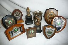 Cricket trophies 1950's & 1960's 10 pieces Leicestershire & Rutland