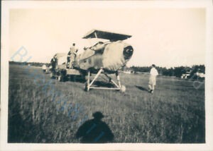 RAF Hawker Hart Aircraft being Towed  on Burma Airfield in the 1930's