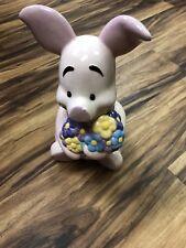 Piglet Disney Winnie the Pooh Cookie Jar bouquet of flower
