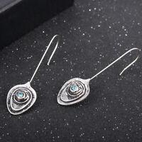 Fashion Women Silver Sapphire Ear Hook Dangle Drop Charm Earrings Jewelry Gifts