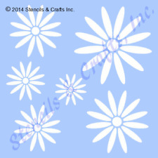 "DAISY STENCIL MANY SIZES STENCILS FLOWER TEMPLATE PAINT ART CRAFT NEW 6"" x 5"""