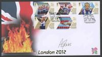 2012 Paralympics Gold Medal Winners Illus. Cover Signed  Aled Davis.