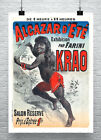 Krao Vintage French Sideshow Poster Fine Art Giclee Print on Canvas or Paper