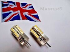 2 x G4 48 SMD3014 12 volt DC 1.8 watt Warm White LED bulbs - Genuine UK Stock