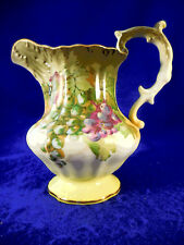 """Pitcher hand painted with outstanding grape design 6 1/4"""" very nice"""