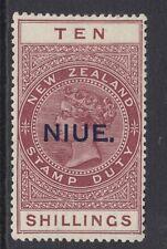 Niue 1918-29 George V 10/- Maroon SG36 - Mounted Mint.