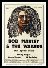 """Framed Vintage Style Rock 'n' Roll Poster """"BOB MARLEY & THE WAILERS"""";12x18"""