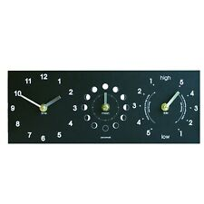 Ashortwalk Moon, Tide and Time Clock wall clock made from recycled paper