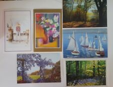 Greeting Cards The Mouth and Foot Painting Artists Set 6 Vintage New