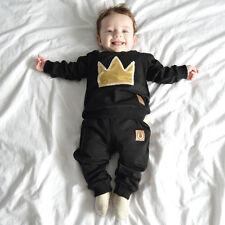 Baby Jungen Freizeitanzug Jogginganzug Hose Pullover König Rapper Krone 74 / 80