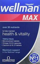 Vitabiotics Wellman Max - 84 Tablets - Triple Pack - 3 in 1 support