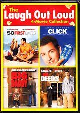 CLICK / MR DEEDS / BIG DADDY / 50 FIRST DATES DVD REGION 1 ADAM SANDLER 4 MOVIES