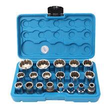 19 tlg Steckschlüssel Satz Gear Lock Nuss Satz Vielzahn Nüße Torx Nuß 8-32mm