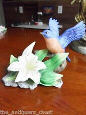 """Seymour Mann Bluebird figurine signed by artist """"Bernini"""" with Lily[first]"""