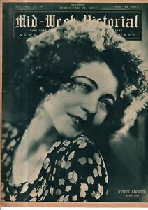 1930 NY Times Mid-Week Pictorial December 20-Albert Einstein Arrives; F L Wright