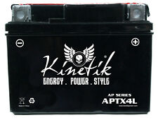 Kinetik 12V 3AH Battery Replacement for Yuasa YTX4L-BS Battery