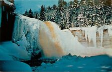 Rushing Tahquamenon Falls Michigan Upper Peninsula MI Winter Scene Postcard
