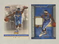 🏀 Carmelo Anthony 2-CARD LOT w/ 2003-04 Flair Sweet Swatch Jersey Relic 80/250