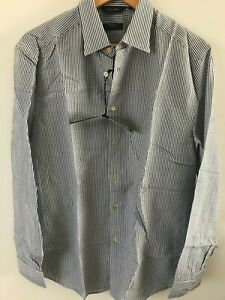 """Paul Smith Gents Formal Tailored Shirt in Blue Stripe Size 15"""" -17.5"""" -RRP £260"""