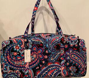 NEW Vera Bradley Large Traveler Duffel Bag Haymarket Paisley Pattern Quilted Bag