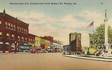 Pennsylvania Avenue Looking East From Hickory Street Warren PA Postcard