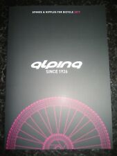 ALPINA Prospekt Katalog ´17 brochure für Colnago Gios Pinarello Tommasini DeRosa