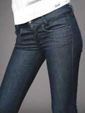 NEW DIESEL Womens jeans denim size 28 4-6 dark blue indigo sexy boot cut long