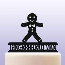 Acrilico GINGERBREAD MAN CAKE TOPPER DECORAZIONE
