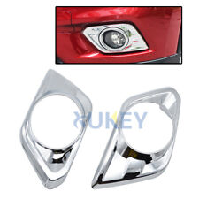 Fit For Nissan Rogue t32 2014-2016 Chrome Front Fog Light Cover Trim Molding 2pc