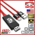 HDMI Cable Adapter HDTV AV for 8-Pin iPhone iPad 7 8 Plus X XS XR 11 Pro Max 12