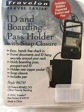 Travelon ID and Boarding Pass Holder w/ Snap Closure - Wallet & Passport Holder