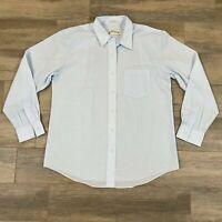 Womens Orvis Long Sleeve Button Down Casual Blue Dress Shirt Size 12