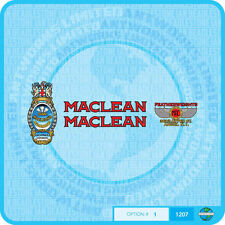 Maclean - Bicycle Decals Transfers - Stickers - Set 1