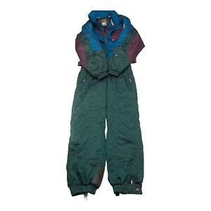 VTG Mens L Descente Ski Suit Jumper One-Piece Snowbaord 80s 90s Retro Gaper