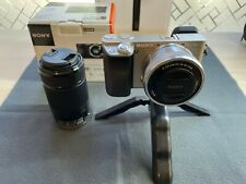 Sony Alpha a6000  24.3 MP Camera with E PZ OSS 16-50mm & 55-210mm lens - Silver