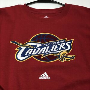 Adidas Cleveland Cavaliers Basketball Adult Long Sleeve T Shirt Medium M Red