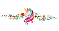 Bright Colourful UNICORN Wall Art Decal Stickers Girls Bedroom UK SELLER FREE PP