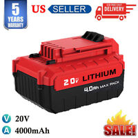 20V MAX 4.0AH Lithium-Ion Battery For Porter Cable PCC685L PCC680L Power Tools