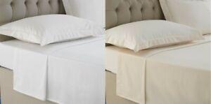 400TC 100% Egyptian Cotton Sateen Flat Sheet Single Double Super King