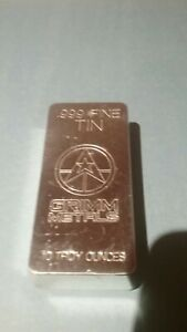 10oz Tin Handpoured Bullion Bar