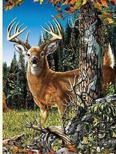 """Original Deer Fleece throw Blanket 50"""" x 60""""  Licensed new"""