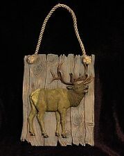 Elk ~ Wild life Plaque Picture Wall Hanging Statue, Figurine  ~ FREE Shipping!