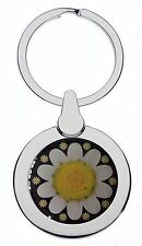 DAISIES FLOWER CHROME KEYRING