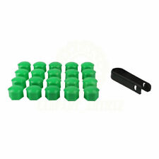 17mm Set 20 Green Car Caps Bolts Wheels Nuts Covers For Nissan Mitsubishi New