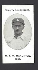TADDY - COUNTY CRICKETERS - H T W HARDINGE, KENT