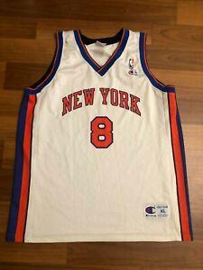 New York Knicks Sprewell #8 Champion Basketball Jersey NBA Shirt SIZE XL