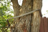 Vintage D.R. BARTON  Large Draw Knife 16'' Blade 24-3/4'' length Solid Handles