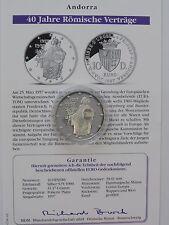 Andorra - 10 Diners - 1997 - 925 Silber - PP - 40 Jahre Römische Verträge