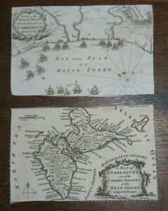 1759 MAPs of GUADELUPE one of the CARIBBY ISLANDS GUADELOUPE THOMAS KITCHIN